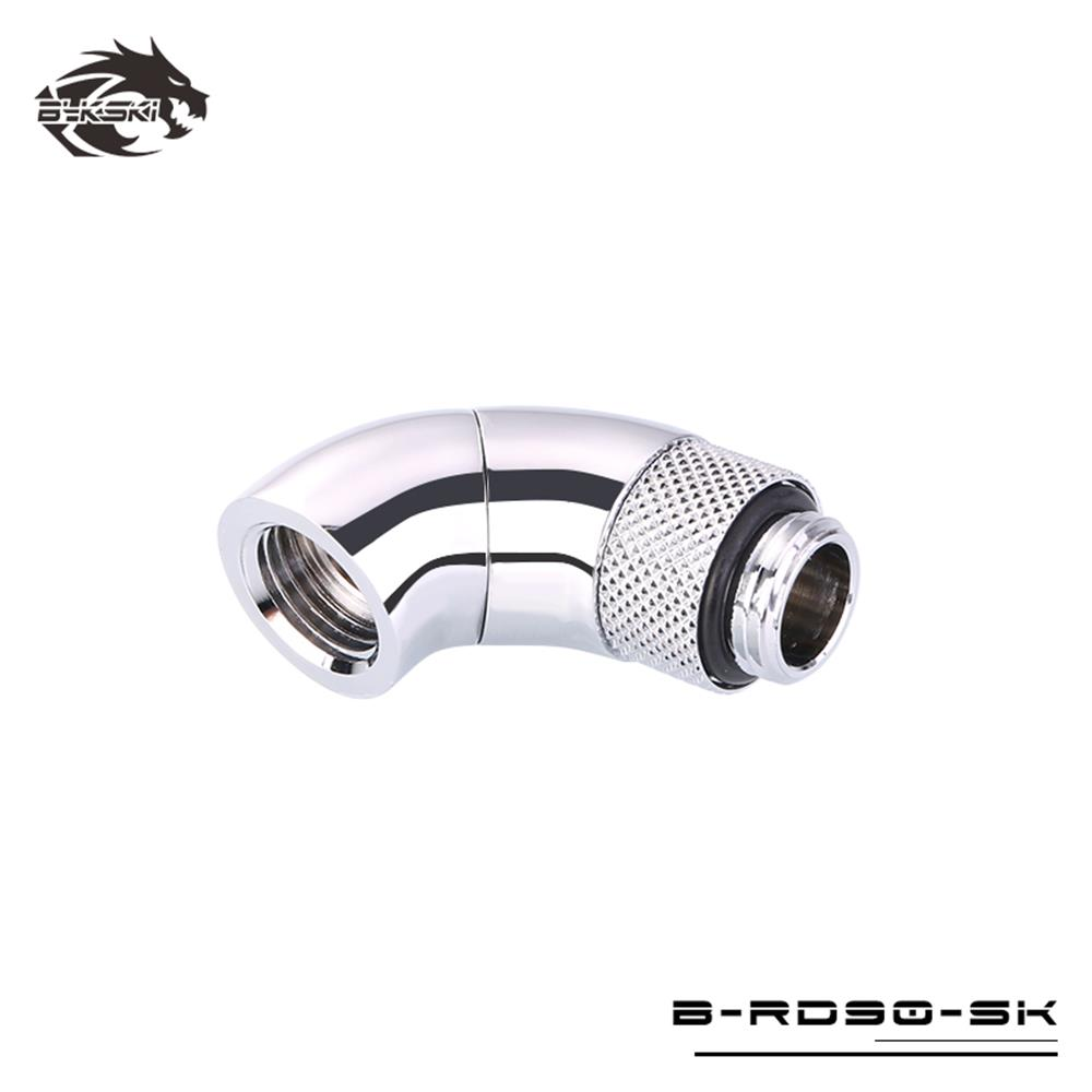 Bykski 90 Degree Extend Elbow Rotatable Fitting Connector B-RD90-EXJ30 Silver